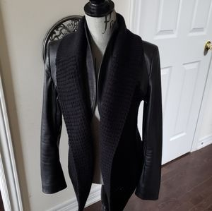 Beautiful Aritzia Line leather mixed media jacket
